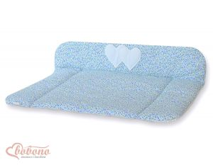 Soft changing mat- Hanging Hearts blue flowers