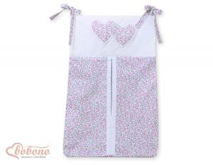 Diaper bag- Hanging Hearts pink flowers