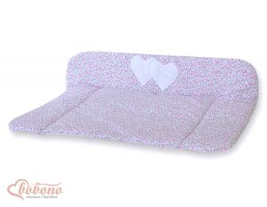 Soft changing mat- Hanging Hearts pink flowers