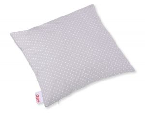 Pillow case - white polka dots on grey
