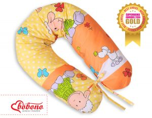 Pregnancy pillow- Sheep orange-yellow