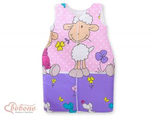 Sleeping bag- Basic Sheeps lilac-pink