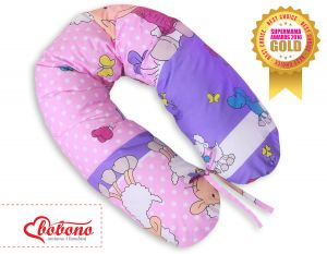 Pregnancy pillow- Sheep lilac-pink