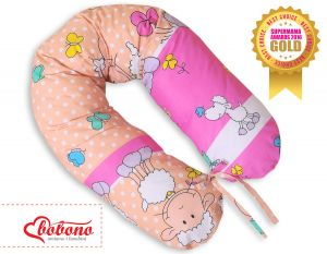 Pregnancy pillow- Sheep pink-beige