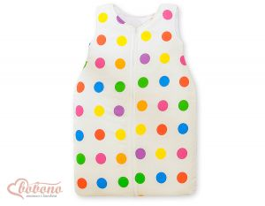 Sleeping bag- Basic dark dots on white