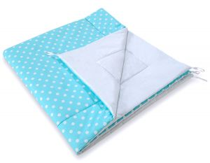 Double-sided teepee playmat- White dots on turquoise