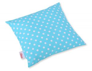 Pillow case - white dots on turquoise