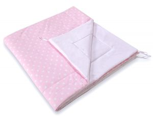 Double-sided teepee playmat- White dots on pink