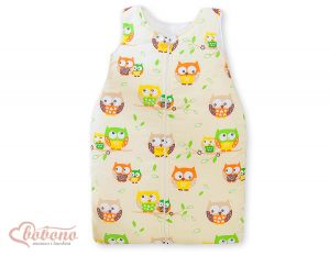Sleeping bag- Basic owls cream