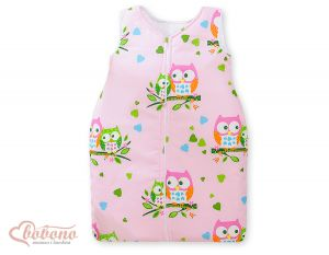 Sleeping bag- Basic owls pink