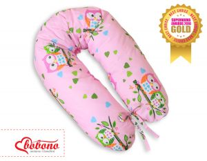 Pregnancy pillow- Owls on pink