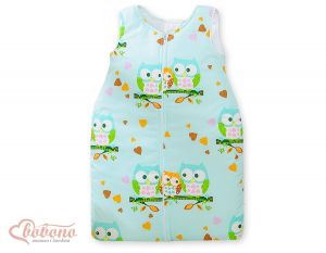 Sleeping bag- Basic Owls mint