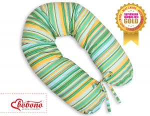 Pregnancy pillow- Green-yellow strips