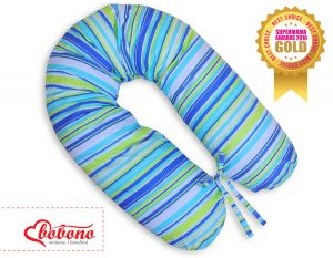 Pregnancy pillow- Blue-green strips