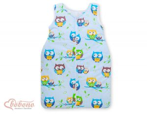 Sleeping bag- Basic owls blue