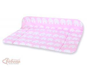 Soft changing mat- Simple Elephants pink