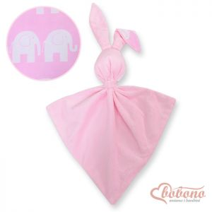 Cuddly rabbit double-sided-Simple pink elephants