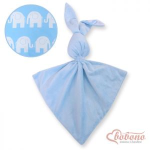 Cuddly rabbit double-sided-Simple blue elephants