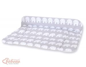 Soft changing mat- Simple Elephants grey