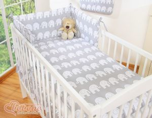 Bedding set 2-pcs- Simple Elephants grey