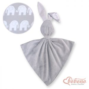 Cuddly rabbit double-sided-Simple gray elephants