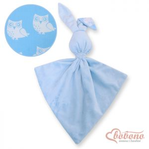 Cuddly rabbit double-sided-Simple blue owls