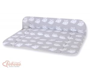 Soft changing mat- Simple Owls grey