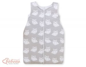 Sleeping bag- Simple Owls grey