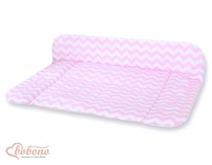 Soft changing mat- Simple chevron pink