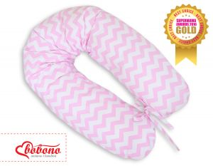 Pregnancy pillow- Simple chevron Zigzag pink