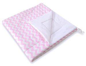 Double-sided teepee playmat- Chevron pink