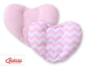 Double-sided Baby head support pillow- Chevron pink