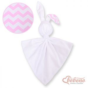 Cuddly rabbit double-sided-Simple chevron pink