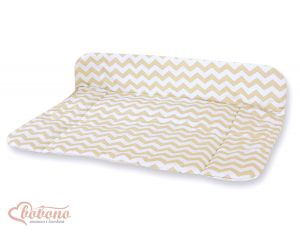 Soft changing mat- Simple chevron beige