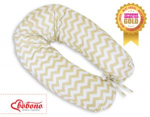 Pregnancy pillow- Simple chevron Zigzag beige