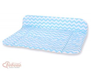 Soft changing mat- Simple chevron blue