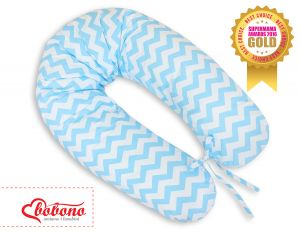 Pregnancy pillow- Simple chevron blue