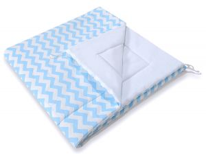 Double-sided teepee playmat- Chevron blue
