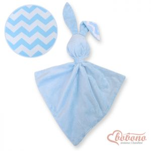 Cuddly rabbit double-sided-Simple chevron blue