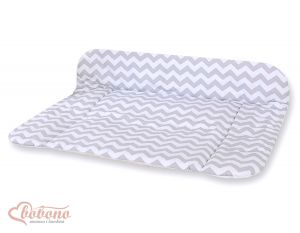 Soft changing mat- Simple chevron grey