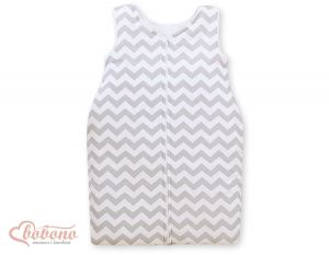 Sleeping bag- Simple chevron grey
