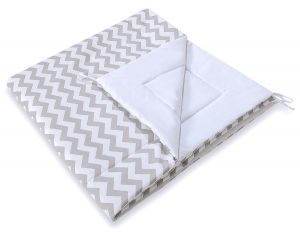 Double-sided teepee playmat- Chevron grey