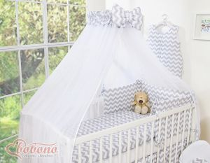 Mosquito-net made of chiffon - Simple chevron gray