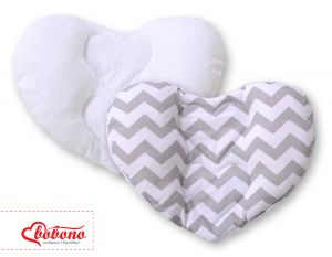 Double-sided Baby head support pillow- Chevron grey