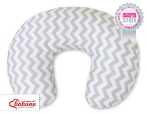 Extra cover for feeding pillow- Simple chevron grey