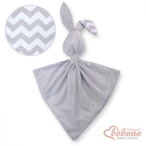 Cuddly rabbit double-sided-Simple chevron gray