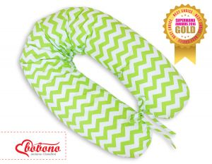 Pregnancy pillow- Simple chevron green