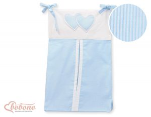Diaper bag- Hanging Hearts blue strips