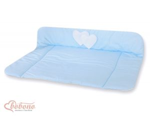 Soft changing mat- Hanging Hearts blue strips