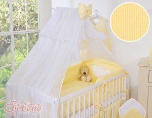 Mosquito-net made of chiffon- Hanging Hearts yellow strips